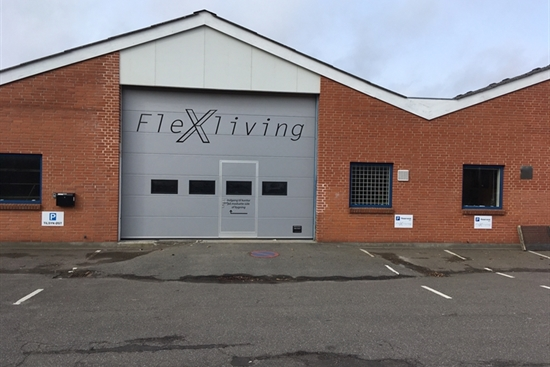 386 m2 produktion, lager, kontor i Nykøbing F til leje